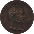 """Political:Tokens & Medals, Large Lincoln Medal """"Abolition of Slavery Proclaimed"""" 1865...."""