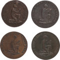 Miscellaneous, Great Britain: Middlesex. Political & Social Series - Slavery :Group of Four ½ Penny Token ND (c. 1790s).... (Total: 4 Items)
