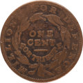 Political:Tokens & Medals, Hard Times Token: Rare Anti-Slavery Counterstamp 1837....