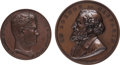 Miscellaneous, France: Two Bronze Medals of French Abolitionists.... (Total: 2Items)