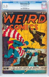 Weird Comics #18 (Fox Features Syndicate, 1941) CGC GD/VG 3.0 Cream to off-white pages