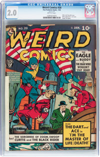 Weird Comics #20 (Fox Features Syndicate, 1942) CGC GD 2.0 Brittle pages