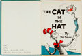 Books:Children's Books, Dr. Seuss. INSCRIBED. The Cat in the Hat. For BeginningReaders. [New York]: Random House, [1957]. Inscribed b...