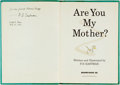 Books:Children's Books, P. D. Eastman. INSCRIBED. Are You My Mother? [New York:]Beginner Books, Inc., [1960]. Inscribed by the author...