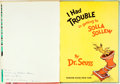 Books:Children's Books, Dr. Seuss. INSCRIBED. I Had Trouble in Getting to SollaSollew. New York: Random House, [1965]. Inscribed by t...