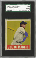 Baseball Cards:Singles (1940-1949), 1948-49 Leaf Joe DiMaggio #1 SGC 80 EX/NM 6. Joltin' Joe gets hisrightful due as he leads off the most compelling trading ...