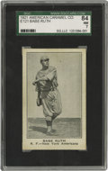 Baseball Cards:Singles (Pre-1930), 1921 American Caramel Co. Babe Ruth E121 SGC 84 NM 7. This card isextracted from the scarce American Caramel Series of 80 (...