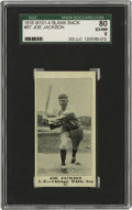 Baseball Cards:Singles (Pre-1930), 1916 M101-4 Joe Jackson #87 Blank Back SGC 80 EX/NM 6. In thisseason, Joe Jackson had just been traded to the Chicago White...