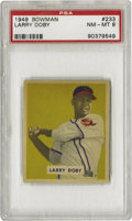 Baseball Cards:Singles (1940-1949), 1949 Bowman Larry Doby #233 PSA NM-MT 8. Here we present Hall of Famer, Larry Doby whose initial entrance into professional ...