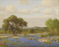 Texas:Early Texas Art - Impressionists, PORFIRIO SALINAS (1910-1973). Untitled Bluebonnet Landscape,1961. Oil on canvas. 24 x 30 inches (61.0 x 76.2 cm). Signe...