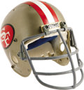 Football Collectibles:Helmets, 1981 Ronnie Lott Game Worn Rookie Helmet. One of the most prolific safeties the NFL has ever seen, Lott was a college All-Am...