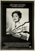 "Movie Posters:Cult Classic, Mommie Dearest (Paramount, 1981). Poster (40"" X 60""). ""No wirehangers EVER!"" This film is based on Christina Crawford's sca..."