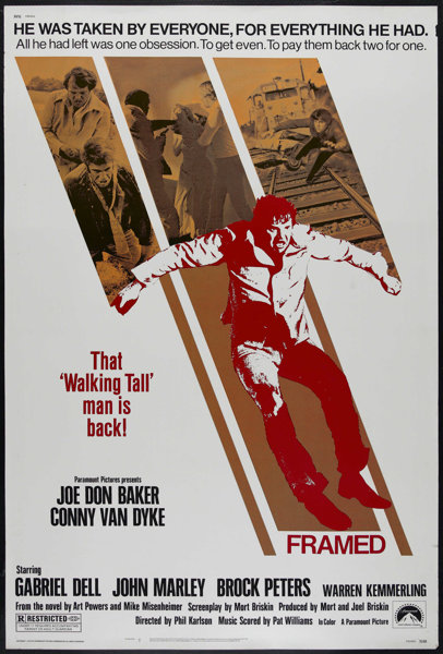 """Framed (Paramount, 1975). Poster (40"""" X 60""""). Crime. Directed by ..."""