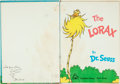 Books:Children's Books, Dr. Seuss. SIGNED. The Lorax. New York: Random House,[1971]. Signed by the author....