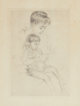 MARY STEVENSON CASSATT (American, 1844-1926) The Manicure Etching 8-1/8 x 5-3/4 inches (20.6 x 14.6 cm) (plate)  PR