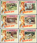 "Movie Posters:Adventure, Killer Ape (Columbia, 1953). Lobby Cards (6) (11"" X 14"").Adventure.. ... (Total: 6 Items)"