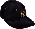 Baseball Collectibles:Uniforms, Early 1930's Lou Gehrig Game Worn New York Yankees Cap, MEARS Authentic....