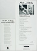 Books:Prints & Leaves, Allen Ginsberg. SIGNED. Pair of Broadsides Featuring Allen GinsbergPoems. [Louisville]: White Fields Press, 1994, 1995. V...