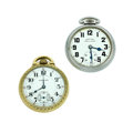 Timepieces:Pocket (post 1900), Two Hamilton's 17 & 21 Jewels Pocket Watches Runners. ... (Total: 2 Items)