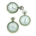 Timepieces:Pocket (post 1900), Two Elgin's & One Waltham 18 Size Pocket Watches Runners. ...(Total: 3 Items)
