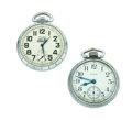 Timepieces:Pocket (post 1900), Waltham & Elgin Open Face Pocket Watches Runners. ... (Total: 2Items)