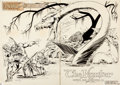 "Original Comic Art:Splash Pages, Mike Grell Warlord #13 ""The Hunter"" Splash Page 2-3 OriginalArt (DC, 1978)...."