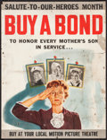 """Movie Posters:War, World War II Lot (1940s). Bond Poster (21.5"""" X 28"""") """"Buy a Bond toHonor Every Mother's Son in Service."""" War.. ..."""