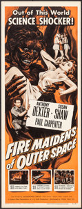 """Movie Posters:Science Fiction, Fire Maidens of Outer Space (Topaz, 1956). Insert (14"""" X 36"""").Science Fiction.. ..."""