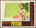 """Movie Posters:Hitchcock, Psycho (Paramount, 1960). Autographed Lobby Card (11"""" X 14"""").Hitchcock.. ..."""