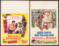 "Movie Posters:Adventure, Escape to Burma & Others Lot (RKO, 1955). Window Cards (2) (14""X 22"") and Uncut Pressbook (6 Pages, 10.75"" X 16""). Adventur...(Total: 3 Items)"