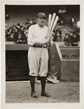 Baseball Collectibles:Others, Early 1920's Babe Ruth Original Photograph by Paul Thompson,PSA/DNA Type 1....