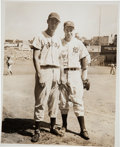 Baseball Collectibles:Photos, 1940's Joe DiMaggio & Ted Williams Original News Photograph,PSA/DNA Type 1. ...