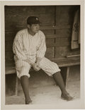 Baseball Collectibles:Photos, Early 1920's Babe Ruth Original Photograph by Paul Thompson,PSA/DNA Type 1....