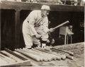 Baseball Collectibles:Photos, 1928 Ty Cobb Original News Photograph, PSA/DNA Type 1. ...