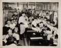 Baseball Collectibles:Photos, Circa 1949 New York Yankees Locker Room Original News Photograph,PSA/DNA Type 1....