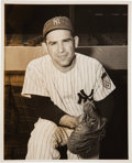 Baseball Collectibles:Photos, 1951 Yogi Berra Original News Photograph Used for 1955 Topps Card,PSA/DNA Type 1. ...