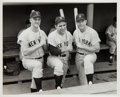 Baseball Collectibles:Photos, 1961 Mickey Mantle, Roger Maris & Yogi Berra Original NewsPhotograph, PSA/DNA Type 1....