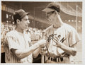 Baseball Collectibles:Photos, 1941 Ted Williams & Joe DiMaggio Original News Photograph,PSA/DNA Type 1....