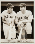 Baseball Collectibles:Photos, 1942 Ted Williams & Joe DiMaggio Original News Photograph,PSA/DNA Type 1. ...