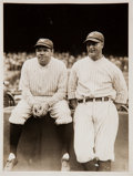 Baseball Collectibles:Photos, 1929 Babe Ruth & Lou Gehrig Original News Photograph, PSA/DNAType 1....