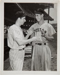 Baseball Collectibles:Photos, 1941 Ted Williams & Joe DiMaggio Original News Photograph, PSA/DNA Type 1....