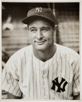 Baseball Collectibles:Photos, 1930's Lou Gehrig Original News Photograph--Image Used on Monument Park Plaque, PSA/DNA Type 1. ...