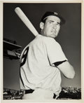 Baseball Collectibles:Photos, 1950's Ted Williams Original News Photograph, PSA/DNA Type 1. ...