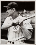 Baseball Collectibles:Photos, 1938 Lou Gehrig Original News Photograph, PSA/DNA Type 1....