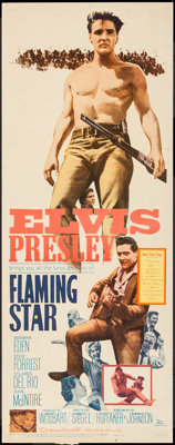 "Flaming Star (20th Century Fox, 1960). Insert (14"" X 36""). Elvis Presley"