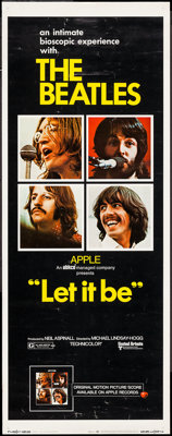 "Let It Be (United Artists, 1970). Insert (14"" X 36""). Rock and Roll"