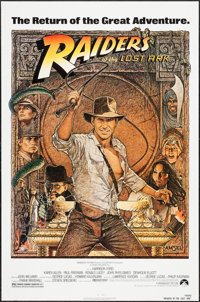 "Raiders of the Lost Ark (Paramount, R-1982). One Sheet (27"" X 41""). Adventure"