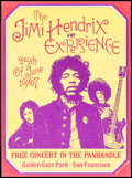 """Movie Posters:Rock and Roll, The Jimi Hendrix Experience at Golden Gate Park (R-1990s). Autographed Reprint Concert Poster (14.25"""" X 19.25""""). Rock and Ro..."""