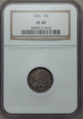 Bust Dimes: , 1836 10C XF40 NGC. NGC Census: (7/183). PCGS Population (27/220). Mintage: 1,190,000. Numismedia Wsl. Price for problem fre...