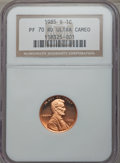 1985-S 1C PR70 Red Ultra Cameo NGC. NGC Census: (2). PCGS Population (94). Numismedia Wsl. Price for problem free NGC/PC...